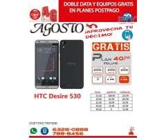 HTC Desire 530 Gratis en Plan de 40.00