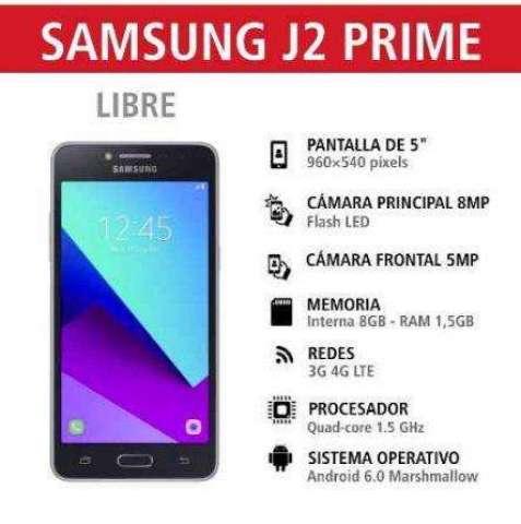 Samsung Galaxy J2 Prime gratis en plan de 28 dolares mensual
