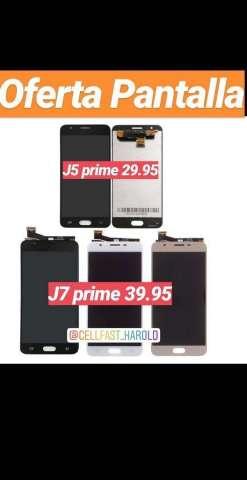 Pantalla J5 Prime 29.95 Y J7 Prime 39.95