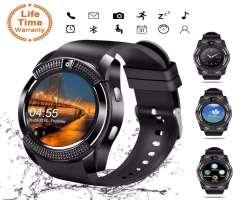 Reloj inteligente V8 hombres Bluetooth Deportivo con cámara ranura para tarjeta Sim Andr...