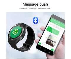 Reloj inteligente hombre-mujer Bluetooth Deportivo con cámara ranura para tarjeta Sim An...