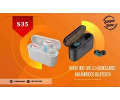 GANGA Audífonos Bluetooth más cargador portátil gratis