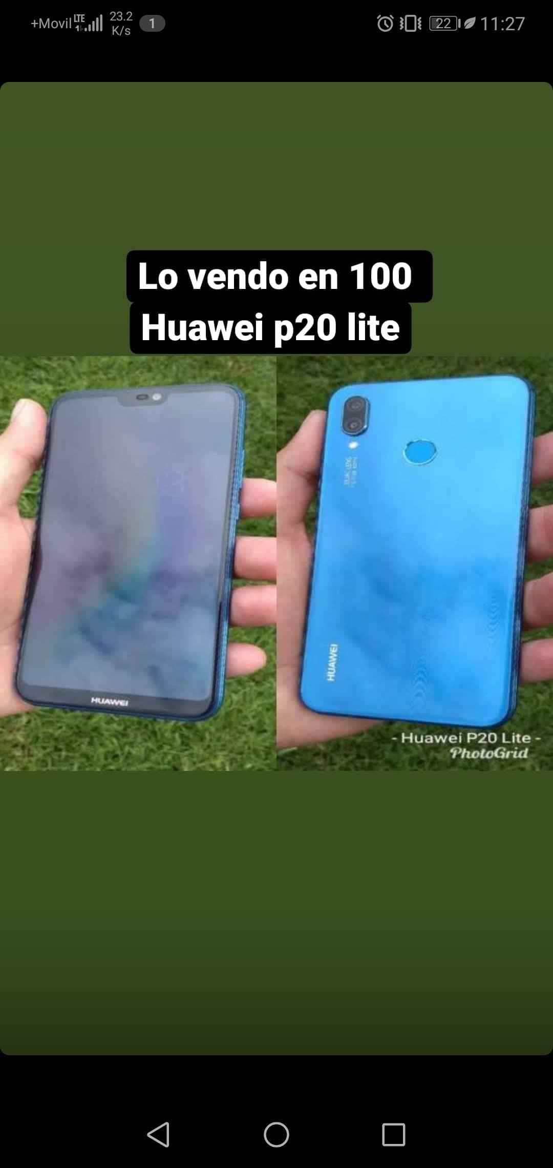 Vendo mi celular Huawey P20 Lite